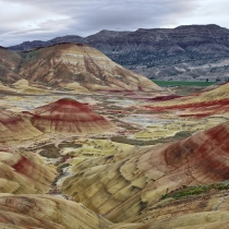Wide view of the Painted Hills