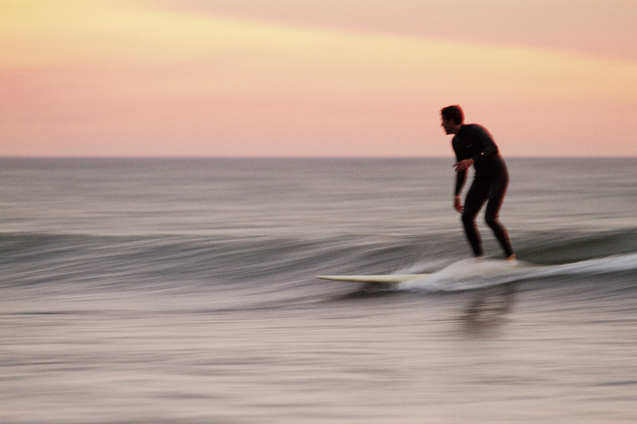 Slow shutter and surfer