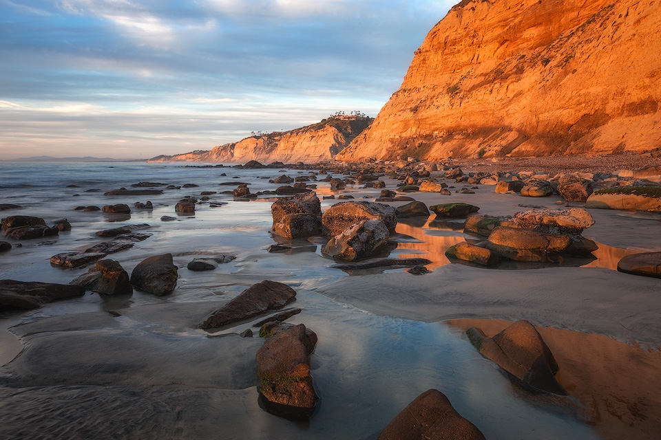 Glowing Cliffs at Black's Beach
