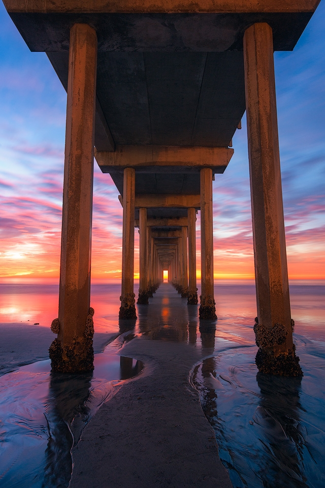 Glowing Sunset at Scripps Pier