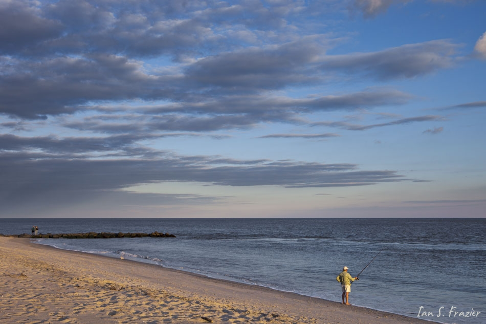 Lone Fisherman at Cape May Point
