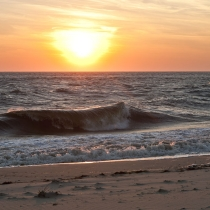 Cape May Sunset and Wave